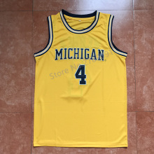 #4 Chris Webber Michigan Wolverines College Basketball Jersey Embroidery Stitched Custom any Number and name(China)