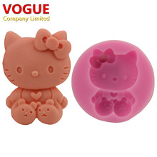 Soft Silicone Hello Kitty Fondant Mold Sugar Craft Cake Decorating Tools N2844(China)