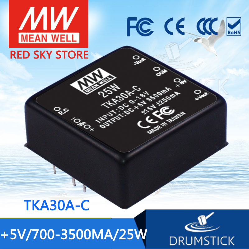 Advantages MEAN WELL TKA30A-C 5V 3500mA meanwell TKA30 5V 25W DC-DC Triple Output Converter<br>
