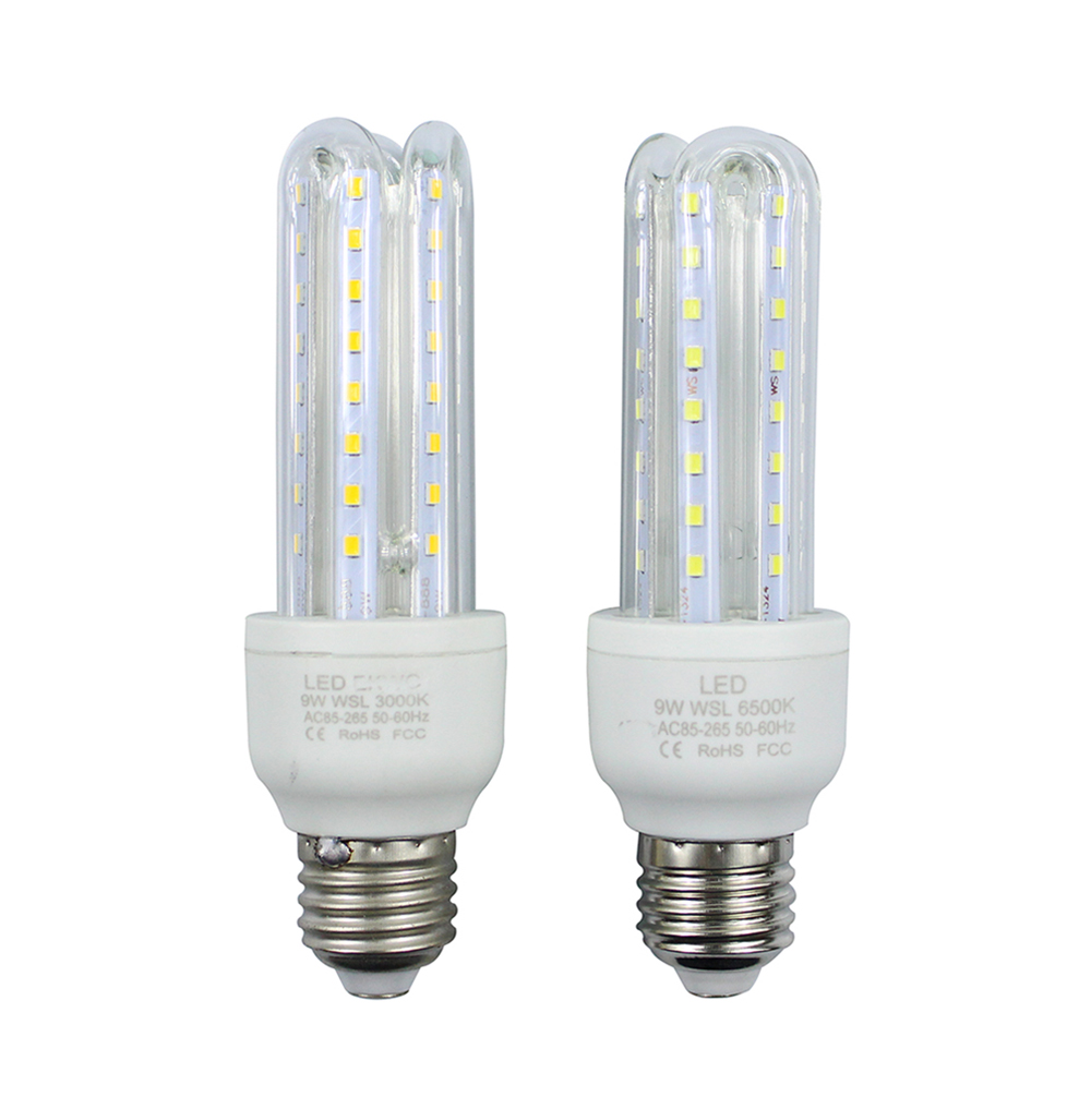 High Power AC 85-265V 9W E27 2835 SMD U Shape Led Corn Bulb Spotlight Led Lamp Ceiling Light free shipping<br><br>Aliexpress