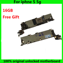 Tested Good Working Original Factory Unlock 16GB Motherboard for iPhone 5 5g Mainboard for iPhone5 phone Logic Board IOS system