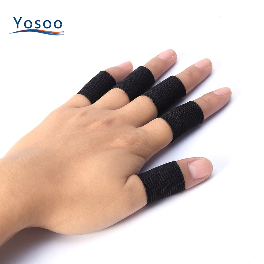 Cheap Sale 10Pcs Finger Protector Sleeve Support Basketball Sports Aid Arthritis Band Wraps Finger Sleeves(China)