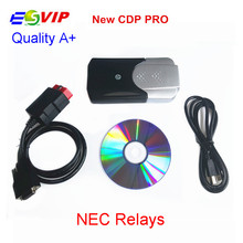 Lowest Price 5pcs/ 2015 R3 tcs cdp pro NEC new VCI Diagnostic Scan Tools Without Bluetooth for Cars & Trucks 2014.R2/R3 cdp plus