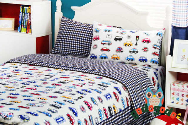 Cars Bedding Queen Size Kids Bed Cover Set Sheets For