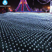 Waterproof Connector 3*2 M LED curtain lights 200 leds led net lights wedding holiday led string EU 220V white With Tail Plug