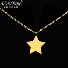 10pcs Best Friends Gift Stainless Steel Collier Femme Vintage Jewelry Celebrity Inspired Tiny Star Necklace  N009S
