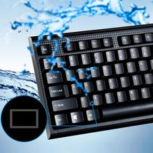 Computer Typing Keyboards SUPER Slim Q9 USB Wire Waterproof Keyboard 107Keys Gaming Keyboards for Home office laptop PC(China)