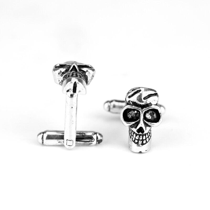Gemelos de acero inoxidable para traje esmoquin calavera Skull masones