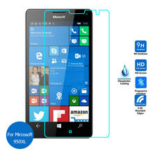10 pcs/lot New High Quality Luxury Tempered Glass Screen Protector Film for Microsoft Nokia Lumia 950 XL Real 9H 2.5D 0.26mm