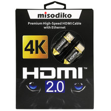 misodiko Premium High Speed HDMI 2.0 Cable for New 4k Ultra HD Televisions - Professional Series(China)