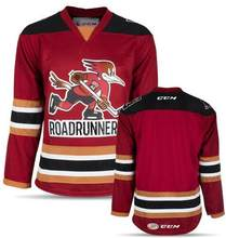 Tucson Roadrunners WHITE red Men s Hockey Jersey Embroidery Stitched  Customize any number and name de62099e8