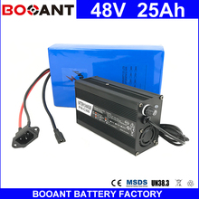 BOOANT 13S 10P Li-ion Battery pack 48V 25AH For Bafang 1000W Motor Electric Bicycle Battery pack 48V With 30A BMS 5A Charger(China)