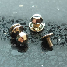"25 Sets 6mm 0.23"" Diamond Brass Head Button Stud Screwback Leather Bag Screw Chicago nail"