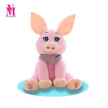 Peek A Boo Pig Stuffed Animals & Plush Pig Doll, Play Music Pig Educational Anti-stress Electric Toy For Baby
