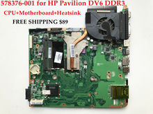 High quality Laptop motherboard+CPU+Heatsink for HP Pavilion DV6-1000 578376-001 GM45 Fully tested&Working perfect