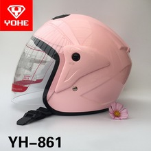 2017 Summer New YOHE Half face motorcycle helmet motorbike Electric bicycle helmets of ABS and PC lens visor size M L XL XXL