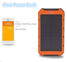 10000mah Solar Power Bank Dual USB Portable External Battery Charger For Mobile