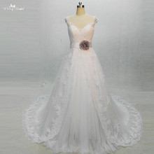 RSW1356 Real Pictures Yiaibridal Cap Sleeves V Neckline Princess Wedding dress Online Chinese Store(China)