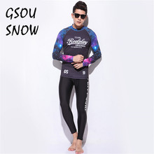 Gsou Snow Brand Diving Suit Rash Guard Men Long Sleeve Diving Spearfishing Wetsuit Surf Snorkel Swimsuit Split Suit Surf Wetsuit