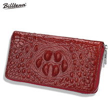 Factory Wholesale Male and Women Long Wallet Mobile Phone Leather Handbags for Men(China)