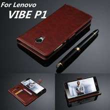 capa fundas Lenovo P1 P1c72 card holder cover case for Lenovo Vibe P1 leather phone case ultra thin wallet flip cover