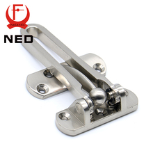 NED-5122 Zinc Alloy Hasp Latch Lock Door Chain Simple Anti-theft Clasp Convenience Window Cabinet Locks For Home Hotel Security