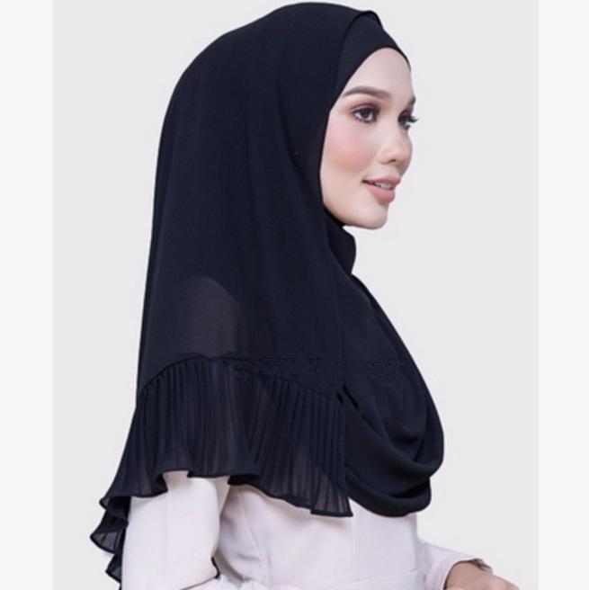 Muslim women chiffon Patchwork headscarf high quality head coverings drape stitching hijab Islam girl's cap big size 12