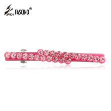 2016 New Fashion Women Hair Jewelry Crystal Rhinestone Hair Barrettes Clips PVC Hair Ornaments For Girls Sweet Gifts (DG810032)
