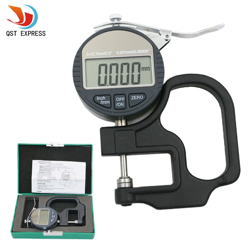 0.001mm Electronic Thickness Gauge 10mm Digital Micrometer Thickness Meter Micrometro Thickness Tester With RS232 Data Output<br><br>Aliexpress