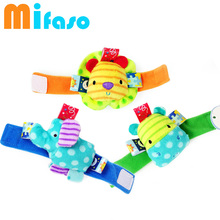 Cute baby wristband wrist with bell Baby Rattles Toys Animal Wrist Strap With Rattle Baby Wrist Strap(China)