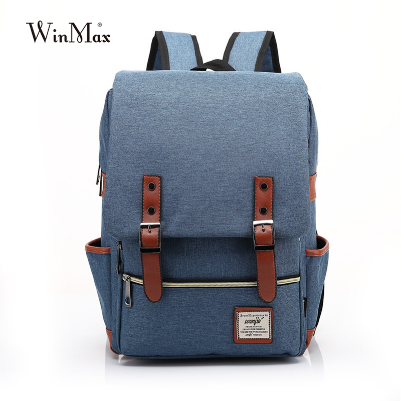 New Vintage Women Canvas Backpacks For Teenage Girls School Bags Large High Quality Mochilas Escolares New Fashion Men Backpack<br><br>Aliexpress