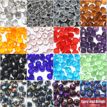 150Pcs/Lot 4mm Mixed Faceted Glass Crystal Rondelle Spacer Beads For Jewelry Making 17Colors In Total Free Shipping(China)