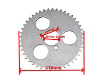 T8F 44T Scooter Chain Sprocket Electric/Gas Scooter Rear Sprocket T8F Chain-Plate (Scooter Spare Parts)