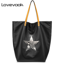 LOVEVOOK fashion women bag female handbag large capacity ladies shoulder bag Double side available Casual Tote bags Canvas(China)