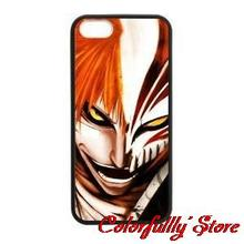 Custom Anime Cool Bleach Face cellphone case cover for 4 4s 5 5c 5s 6 6 plus Samsung galaxy S3/4/5/6/7edge+ Note 2 3 4 5