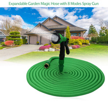 2017 High Quality 25FT-100FT Garden Hose Expandable Magic Flexible Water Hose Hose Plastic Hoses Pipe With Spray Gun To Watering(China)