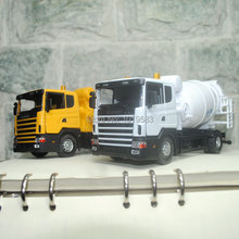 (5pcs/pack) Free Shipping Wholesale Brand New 1/43 Scale Swden Scania Cement Mixer Truck Diecast Metal Car Model Toy