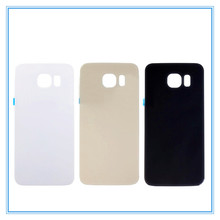 High Quality New Glass Rear Back Battery Door For Samsung Galaxy S6 G920 G9200 SM-G920F S6 edge SM-G925 Back Housing Cover Case