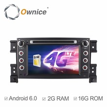 2G RAM HD 1024*600 Quad Core Android 6.0 Car Multimedia DVD Head Unit Player For SUZUKI GRAND VITARA 2005-2011 Stereo 4G RDS