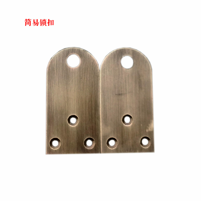 [essence] Chinese antique Pavilion pure bronze buckle handle classic antique wood door accessories thickened lock nose<br>