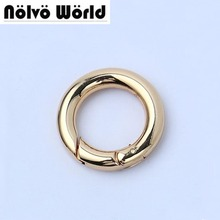 "Wholesale 30PCS,Inside 20mm (3/4"") Gold Color Snap Clip Trigger Spring Ring for Making Purse Bag Handbag Handle Connector"