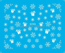 2PCS D268 Snowflake Nail Art Water Decal Nail Water Transfer Sticker