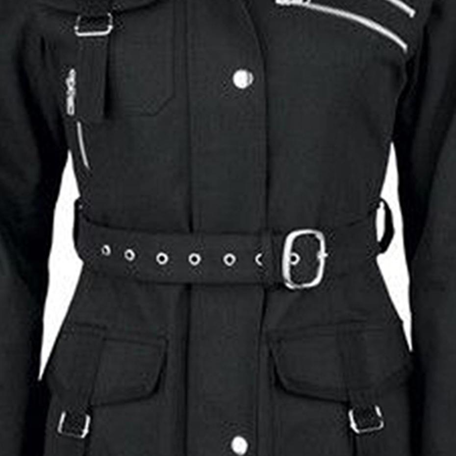 معطف الشتاء الدافئ مع حزام على الخصر 3