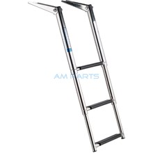 Stainless Steel 3 Step Telescopic Boat Ladder - Marine Transom Boarding Ladder(China)