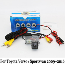 Auto Rear View Camera For Toyota Verso / Sportsvan 2009~2016 / RCA AUX Wired Or Wireless / Night Vision HD Car Parking Camera