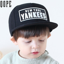 Embroidery Letter YANKEES baseball caps children boys girls stripe snapback gorras planas hip hop bone ny casquette hat for kids(China)