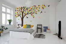 238cm Tall Large Autumn Maple Tree decal Wall Stickers For Kids Room Vinyl Removable Baby Wall Decals Huge Tree Mural D978