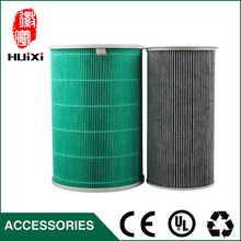The green and gray hepa air filter cleaner parts, hot sale high efficient composite filter cartridge air purifier parts(China)