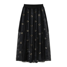 2017 Summer Trend New Pattern European Wind All-match Will Heloma Weave Bring Decoration Gauze Skirt Woman Loose Casual AL272