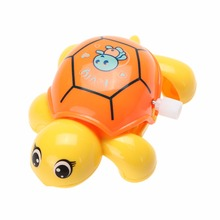1pcs Baby Toys Cute Mini Clockwork Tortoise New Fashion Baby Animal Turtle Wind Up Toys(China)